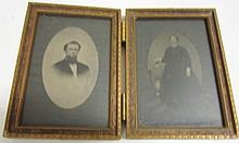 Pair Tin Types in Frames