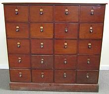 19th Century English 20 Drawer Apothecary In Cherry