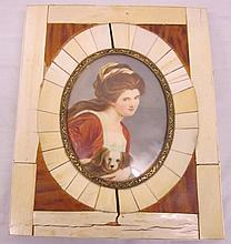 Portrait Miniature in Ivory Frame