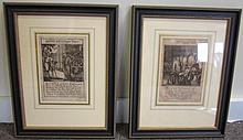 Pair of Early Framed Etchings