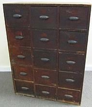 19th Century 15 Drawer Apothecary