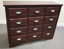 12 Drawer Eastlake Apothecary with Original Labels
