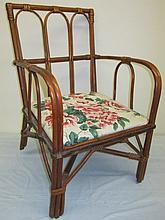 Antique - Child's Split Reed Arm Chair