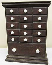 16 Drawer Miniature Apothecary
