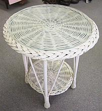Round Wicker Table
