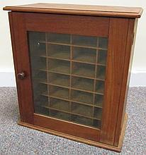 Sweet Little Walnut Cabinet With Fitted Interior