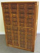 44 Drawer Oak File Cabinet