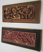 Pair of Carved Floral Panels 17th Century