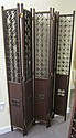 Pair of Teak Panel Screens