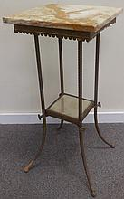 Marble Top Brass Victorian Stand