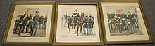 3 Military Lithographs