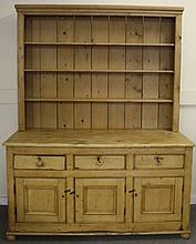 2 Part Pine Welsh Cupboard