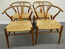 4 Modern Chairs Attr. Hans Wegner