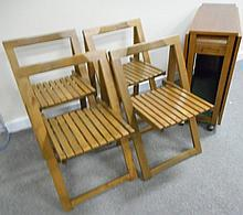 Exceptional Tuck Away Danish Table with 4 Chairs