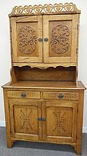2-Part Oak Court Cupboard