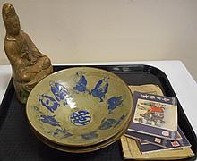 5 Pc. Lot 2 Bowls, Buddha, Boxes
