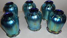 6 Art Glass Shades