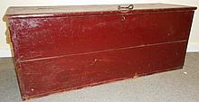 Early Storage Box in Red Paint