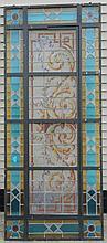 Leaded Glass Transom Window 34 x 80