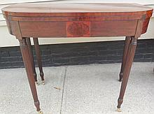 NY Swing Leg Game Table ca 1810