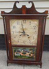 Pillar and Scroll Clock Partial Label Eli Terry