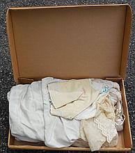 Box of Early Doll Clothing