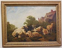 Oil Painting/Sheep