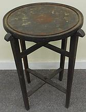 19th Cent Rosewood folding table