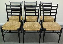 Lot of 7 Chairs in the Manner of Gia Ponti