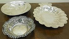 3 Sterling Bowls