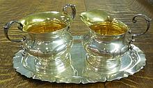 Sterling- Creamer, Sugar and Tray
