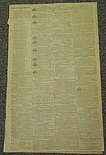 CA. 1803 Newspaper