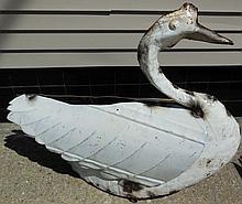 Real Fun Tin Folk Art Swan
