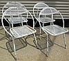 4 Metal mesh chairs