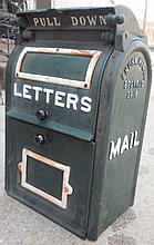 Wall hanging iron mailbox stamped 1920's, Bucyrus OH