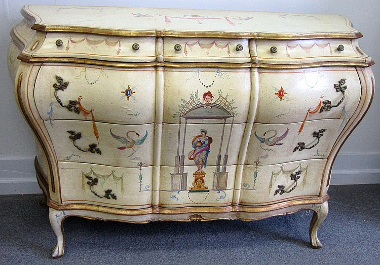 Venetian Paint 6 Drawer Commode