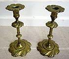 Circa 18C Brass Candlesticks