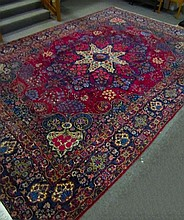 Finely Woven Semi-Antiques Persian Carpet 10'4