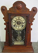 Waterbury Clock Rare Walnut Case