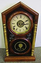 Ingraham Rosewood Clock Time / Strike / Alarm