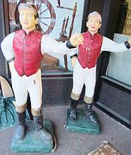 Pair of Concrete Jockeys