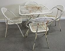 Mesh Table and 4 Chairs