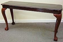 Console Table with Glass Inserts