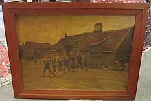 Otto Hagborg oil on canvas 30 x 43 signed and dated 1887