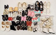 Grouping of doll shoes