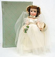 Mint 1950's Madame Alexander Wendy Bride doll