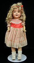 Large composition shoulder head doll