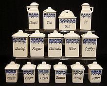 German porcelain miniature canister set