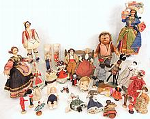 Grouping of assorted dolls