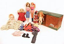 Grouping of dolls